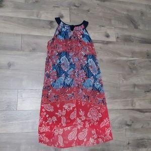 Dress Barn sleeveless high- low dress size 16